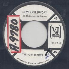 Four Seasons, The - Never On Sunday