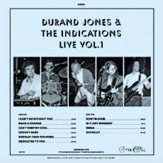 Jones, Durand & The Indications - Blackfriday2018 - Durand Jones & The Indications Live Vol. 1 (translucent Blue Vinyl)