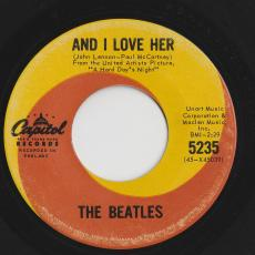 Beatles, The - And I Love Her / If I Fell   ( Variant Labels ) [ Good+ ]