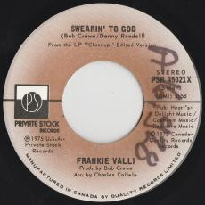 Valli, Frankie - Swearin\' To God  [ 7\