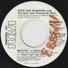 Robinson, Vicki Sue - Medley : Should I Stay / I Won\'t Let You Go [ Promo ]