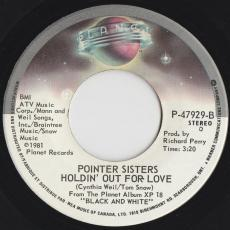 Pointer Sisters - Slow Hand / Holdin\' Out For Love