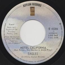 Eagles - Hotel California / Pretty Maids All In A Row ( Strong Vg+ )