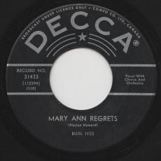 Ives, Burl - Mary Ann Regrets / How Do You Fall Out Of Love