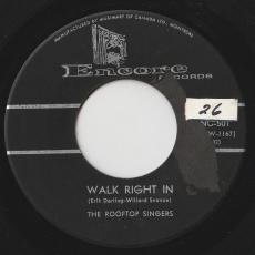 Rooftop Singers, The - Walk Right In / Cool Water